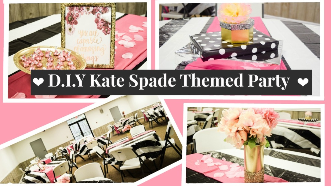 Kate Spade Decorating Tips: D.I.Y Kate Spade Themed Party